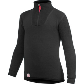 Woolpower 200 Zip Turtle Neck Kinder pirate black